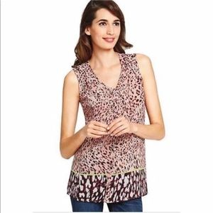 CAbi Animal Print Beguile Sheer Cheetah LARGE